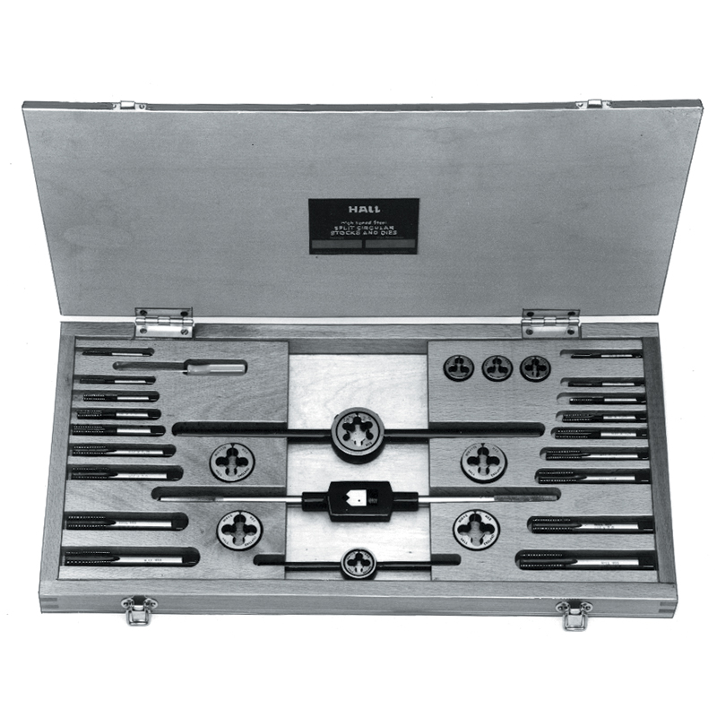 Cased Sets of HSSGT Taps, Dies, Wrenches and Stocks